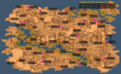 Map of enemy camps: Ali Baba and the Treasure of Wisdom