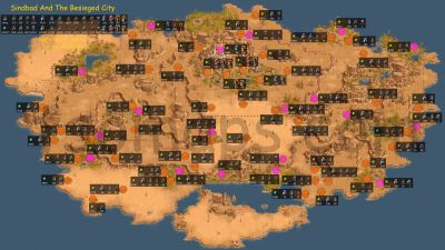 Map of enemy camps: Sinbad and the Besieged City