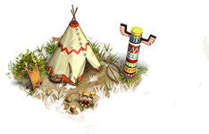 Decorated White Tipi