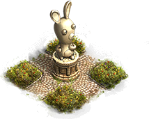 Raving Rabbid statue